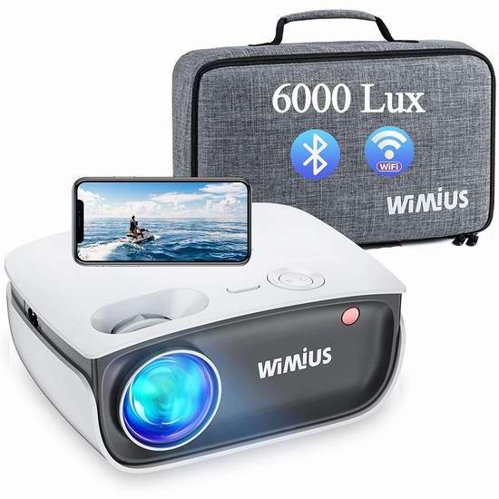 WiMiUS 原生720P 6000流明 WiFi无线 家庭影院投影仪 129.99加元包邮!