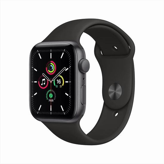 Apple Watch SE 44mm 苹果智能手表 367.99加元包邮!黑、粉两色可选!