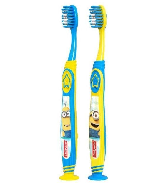 Colgate 超柔软儿童牙刷2支 带吸盘 4.5加元,原价 5.97加元