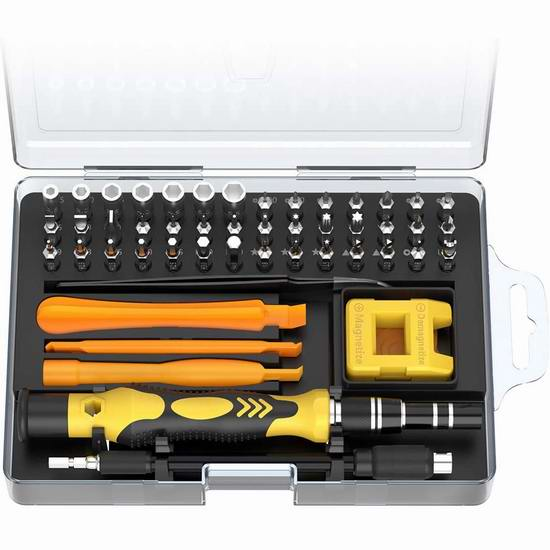 历史新低!LinGear 52合一 多功能螺丝刀工具套装5折 9.99加元清仓!