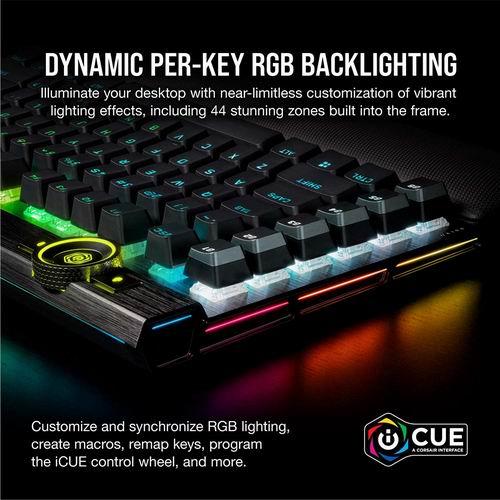 Corsair K100 RGB 光学机械游戏键盘 7.8折 249.99加元,原价 319.99加元,包邮