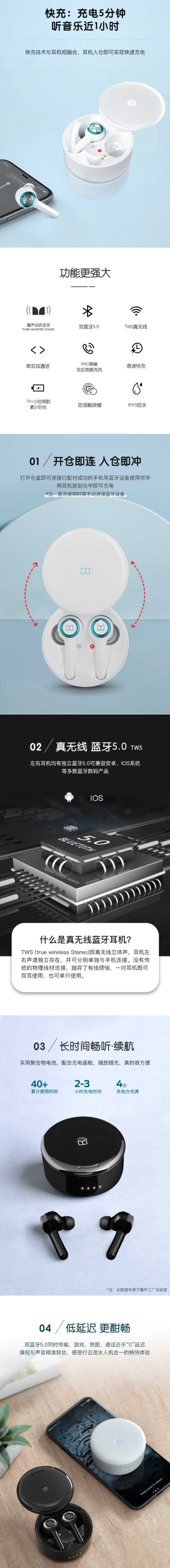 历史新低!Monster 魔声 Clarity 102 Plus Airlinks 360度全景音效 真无线耳机4.2折 52.99加元包邮!免税!