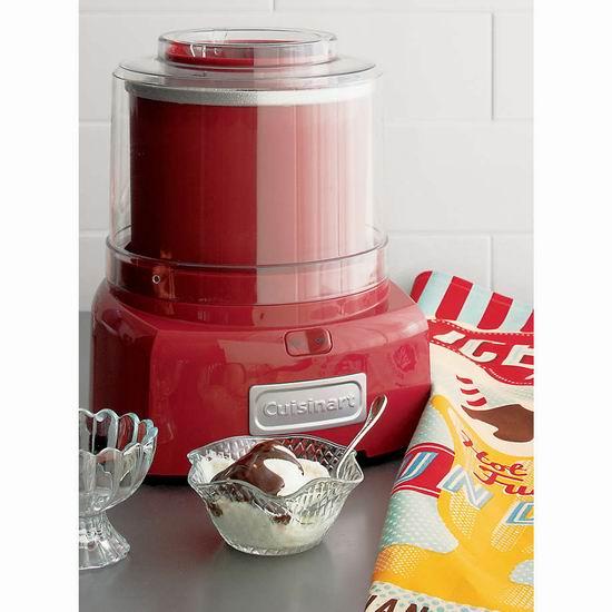折扣升级!历史新低!Cuisinart 美康雅 ICE-21R 多功能家用冰淇淋机/酸奶机4.4折 48.57加元包邮!清凉美味说有就有!