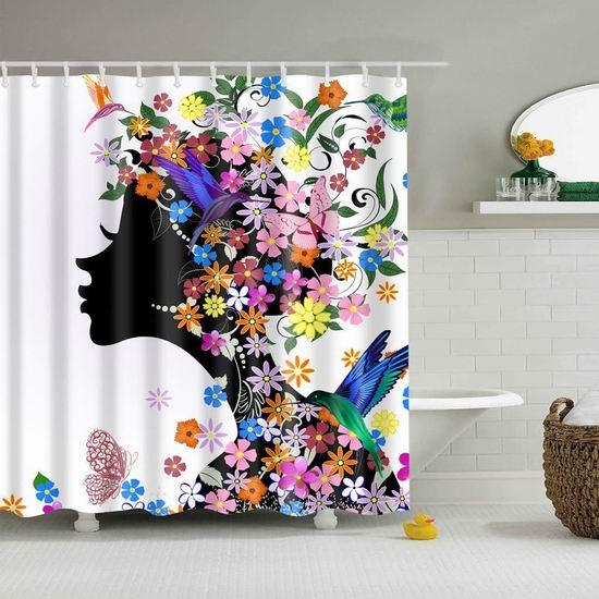 历史新低!Mantto 高颜值花童 可机洗 环保防水涤纶浴帘 14.39加元!3款可选!