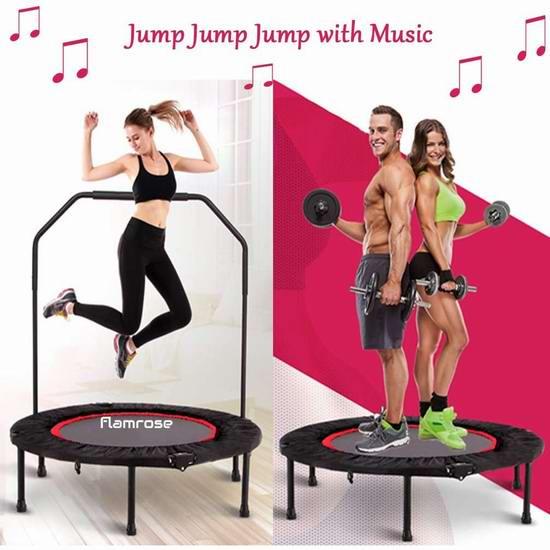 FLAMROSE 40英寸 可折叠健身蹦床 74.99加元限量特卖并包邮!
