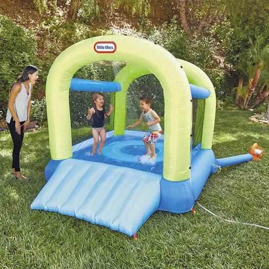Little Tikes 小泰克 Jump n Slide 二合一 干湿两用 儿童充气蹦床 323.2加元包邮!