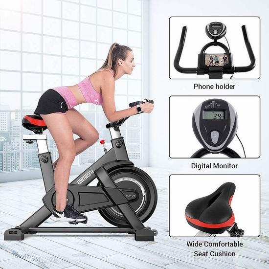 ONETWOFIT 家用动感健身自行车 211.89加元包邮!免税!