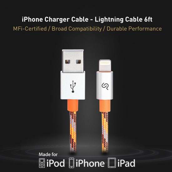 今日闪购:PrimeCables 苹果MFi认证 Lightning iPhone iPad 数据线3.1折 5.99加元包邮!