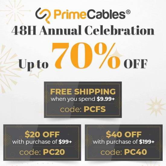 白菜价!PrimeCables 7周年大促!精选大量电子产品、办公用品、办公家具、生活用品等3折起+最高满减40加元!个别款低至0.4折!