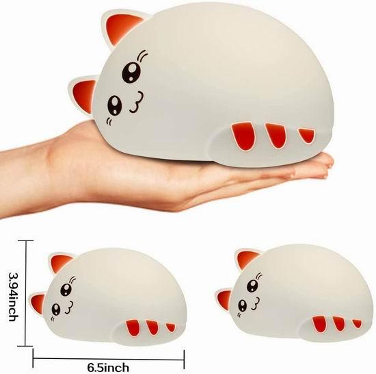 白菜价!历史新低!CNSUNWAY 超萌小猫咪 7色LED 可充电 儿童硅胶夜灯3.8折 9.99加元清仓!