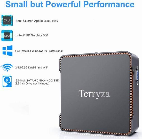Terryza 迷你PC电脑(8GB/256GB SSD) 264.49加元限量特卖并包邮!