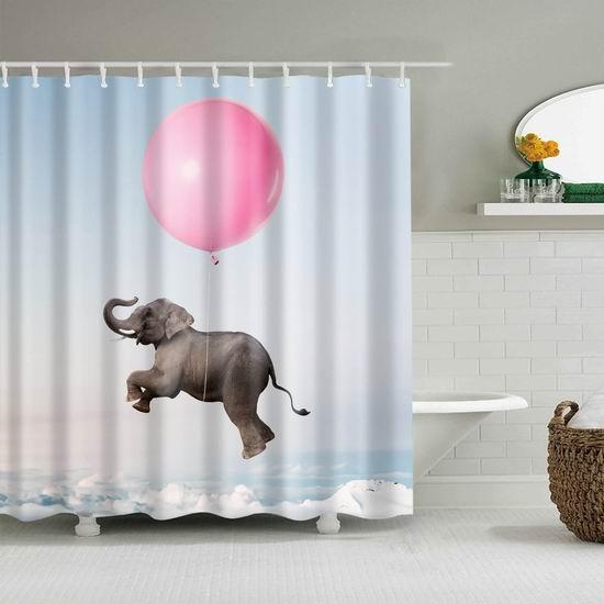 历史新低!Mantto 超可爱动物 可机洗 环保防水涤纶浴帘 13.79加元!3款可选!