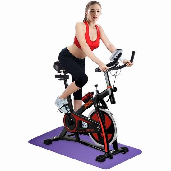 历史新低!OneTwoFit 家用静音健身自行车5折 167.99加元包邮!送瑜伽垫!