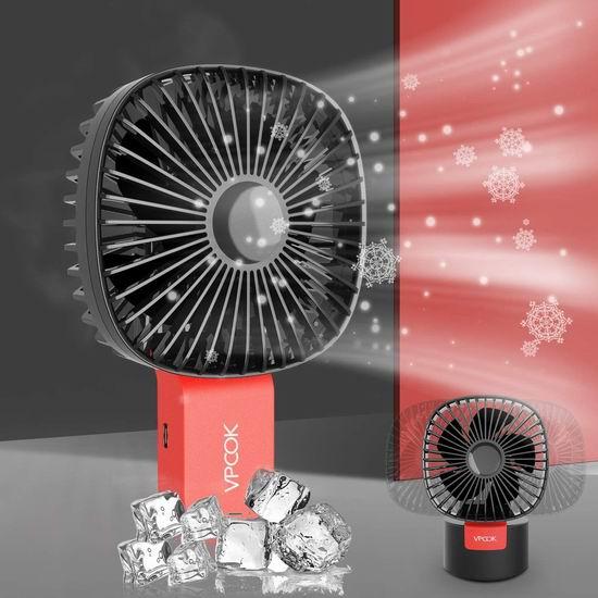 VPCOK 解暑小神器 二合一 可摇头 便携式迷你电风扇6.2折 16.77加元