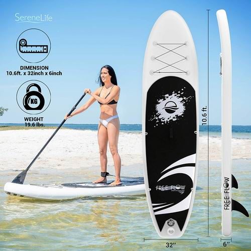 SereneLife 充气立式桨板 452.69加元,原价 486.25加元,包邮
