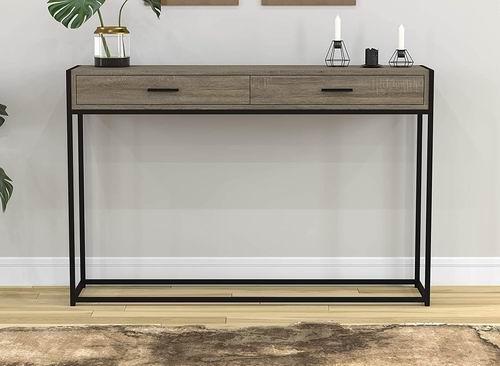 Safdie & Co. 简易木纹门厅桌 46英寸长 110.97加元,原价 139.97加元,包邮