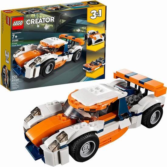 补货!LEGO 乐高 31089 创意百变系列 三合一 日落场地赛车(221pcs)5.6折 14加元清仓!
