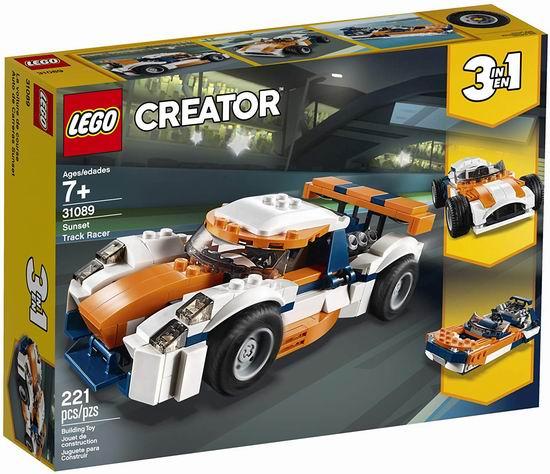 LEGO 乐高 31089 创意百变系列 三合一 日落场地赛车(221pcs)7.4折 18.5加元!