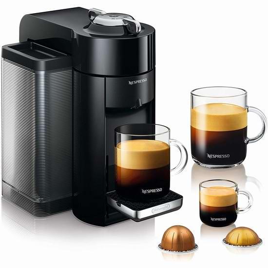 DeLonghi 德龙 Nespresso Vertuo 胶囊咖啡机5.2折 129加元包邮!