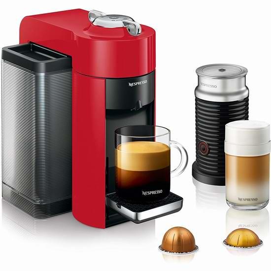 DeLonghi 德龙 Nespresso Vertuo 胶囊咖啡机+奶泡机套装6.2折 199加元包邮!