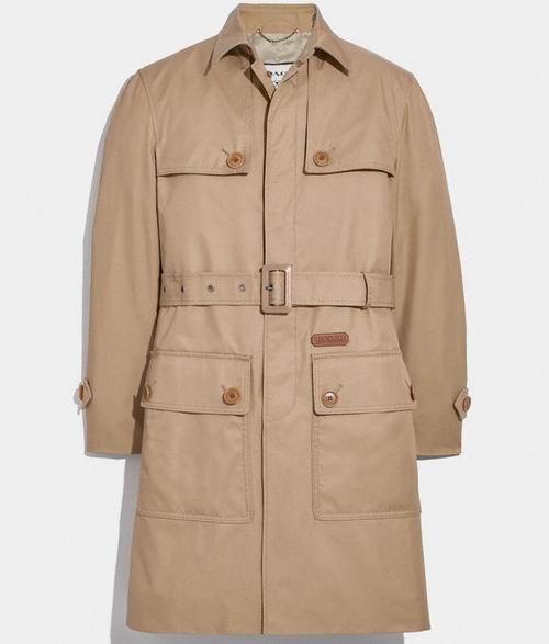 Coach男士有机棉束腰风衣 447.5加元,原价 895加元,包邮