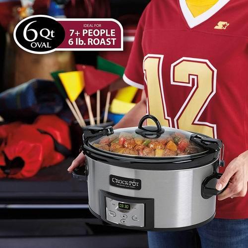 Crock-Pot SCCPVL610-S 6 夸脱慢炖锅 6.8折 59.99加元,原价 87.6加元,包邮