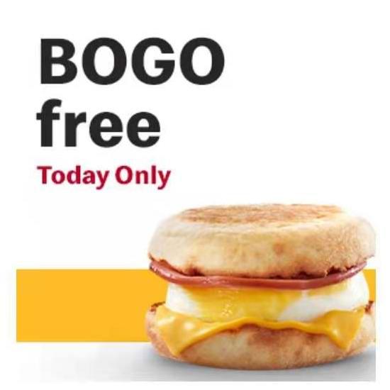 McDonald's 麦当劳父亲节专享:McMuffin 麦满分 买一送一!仅限今日!
