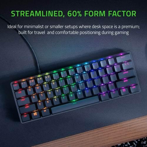 Razer Huntsman Mini 雷蛇猎魂光蛛迷你60% 键盘 129.99加元,原价 159.99加元,包邮