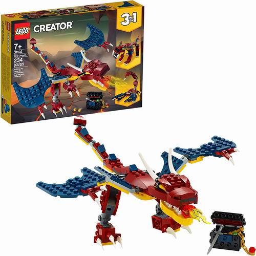 历史新低!LEGO 乐高 创意百变系列 31102 3合1喷火飞龙(234pcs)5.6折 14加元清仓!