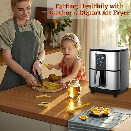 历史新低!KITCHER 6.5升大容量 健康无油 数字式不锈钢空气炸锅5.9折 99.99加元包邮!