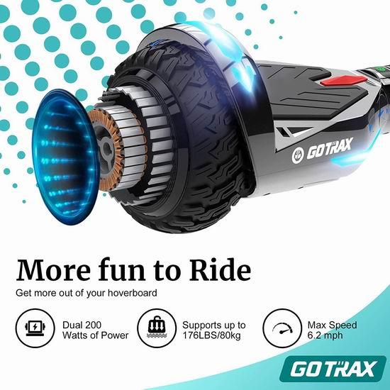 历史新低!GOTRAX NOVA PRO 400W 双电机 炫酷LED 蓝牙体感平衡车5折 149.99加元包邮!