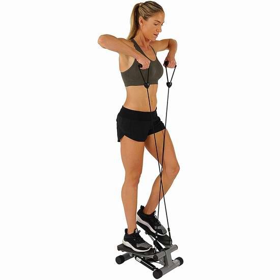 折扣升级!Sunny Health & Fitness 迷你家用扭腰踏步机6折 62.97加元包邮!塑造完美曲线!