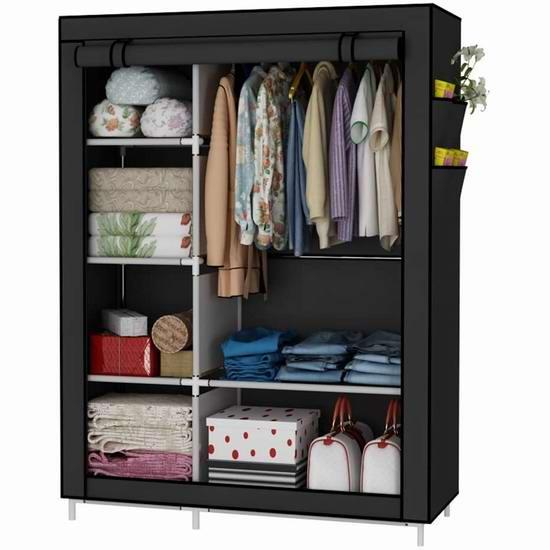 UDEAR 便携式简易衣柜 33.99加元!2色可选!