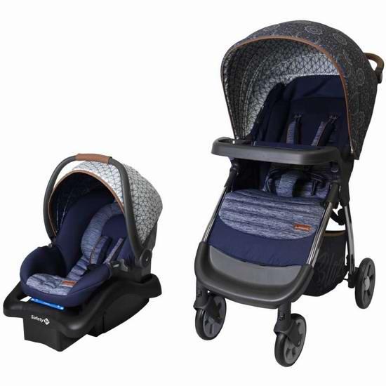 白菜价!历史新低!Safety 1st Boho Chic 婴儿推车+提篮套装3折 131.96加元清仓并包邮!
