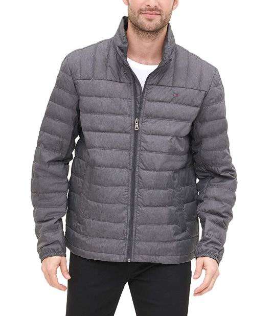 Tommy Hilfiger 男士薄款羽绒夹克 32.76加元(S码),原价 92.95加元