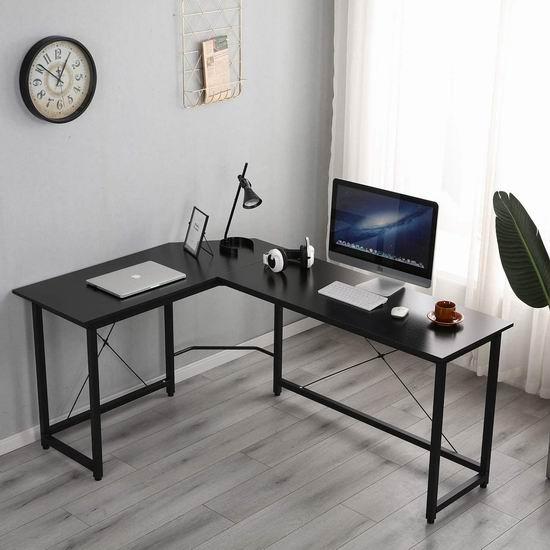 白菜价!历史新低!SogesPower L型时尚电脑桌/办公桌3.1折 69-79加元清仓并包邮!