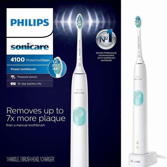 Philips 飞利浦 HX6815/01 声波电动牙刷5.5折 49.96加元包邮!