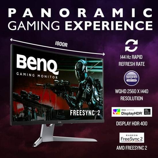 历史新低!BenQ 明基 EX3203R 32英寸 144Hz 曲面全景游戏显示器5.4折 429.98加元包邮!