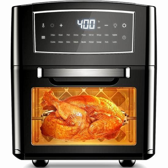 C0staKaiser 12升 对流空气炸锅/烤箱 144.99加元包邮!烤鸡、烤串神器!