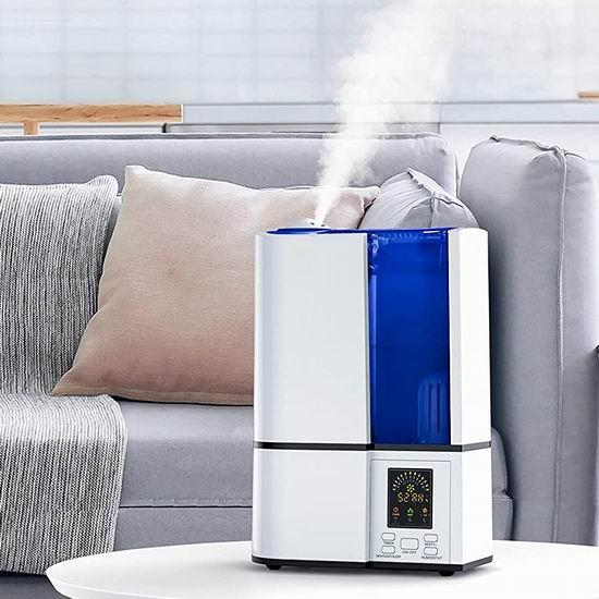 折扣升级!历史新低!明星爆款 FineSky 4升大容量 零噪音超声波冷雾加湿器 44.99加元包邮!