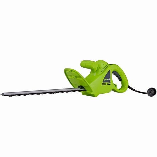 历史新低!GreenWorks 22102 2.7安培 18英寸 电动修枝机6折 34.99加元!