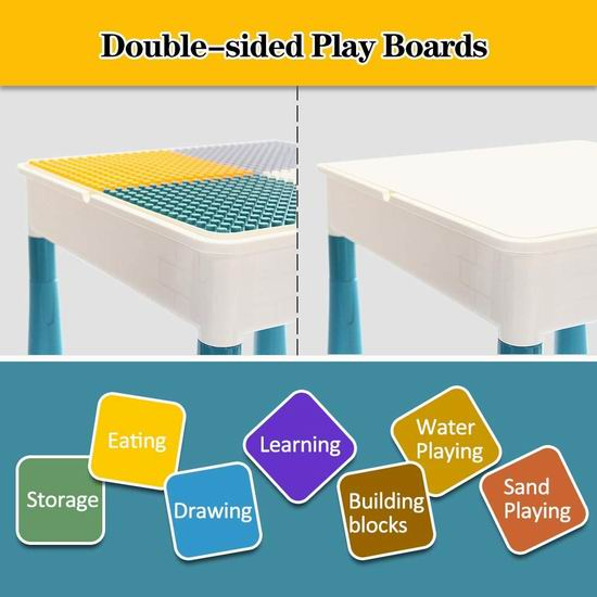 GobiDex 七合一 多功能积木游戏桌套装 67.99加元限量特卖并包邮!送100pcs积木!