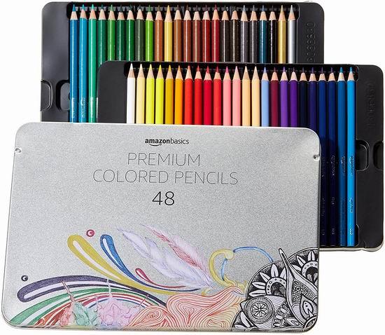 AmazonBasics彩色铅笔 48色 18.54加元,原价 26.52加元