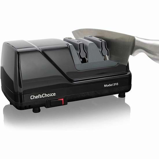 历史新低!Chef'sChoice 315 XV 专业3段 电动磨刀器4.7折 79.99加元包邮!