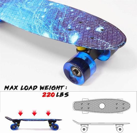 历史新低!Solomone Cavalli 高颜值迷你滑板 29.87加元包邮!2色可选!