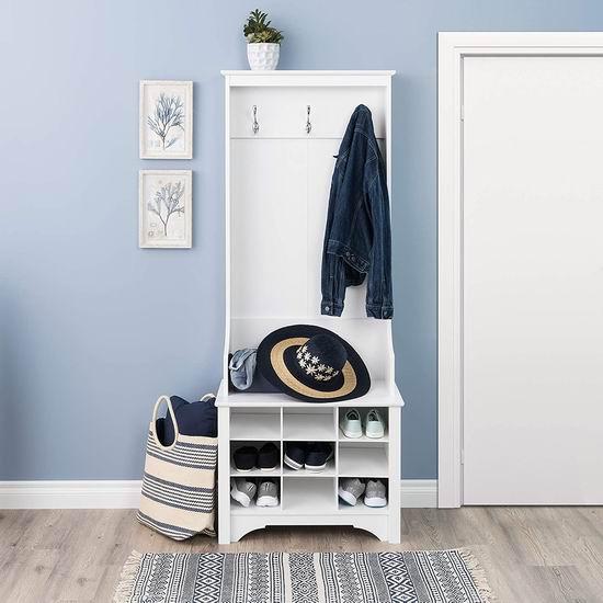 历史最低价!Prepac WSOG-0012-1 27英寸白色门厅收纳柜/鞋柜6.3折 169.97加元包邮!