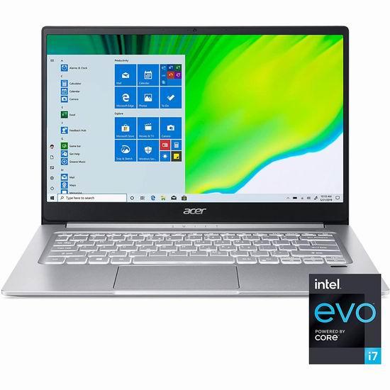 历史新低!Acer 宏碁 Swift 3 蜂鸟 Evo 14寸超纤薄笔记本电脑(8GB, 512GB SSD) 708.98加元包邮!