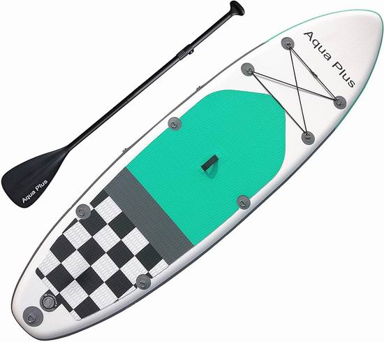 历史新低!Aqua Plus 10英尺 SUP充气站立式桨板 299.99加元包邮!