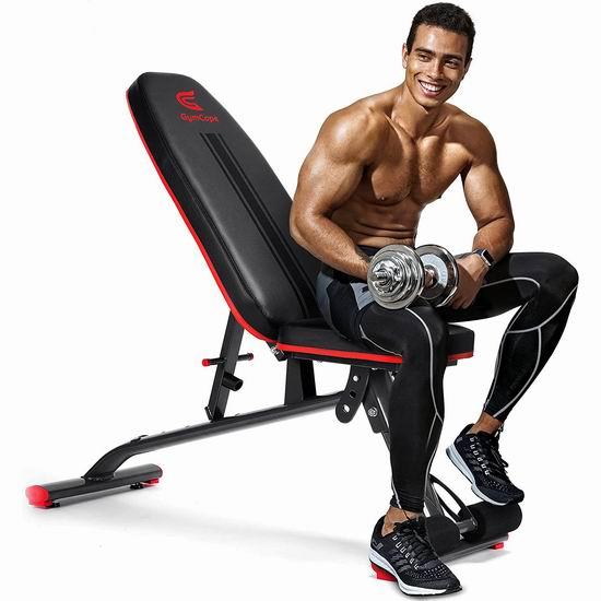 白菜史低价!GymCope 全身力量训练  多功能家用健身凳3折 100加元包邮!