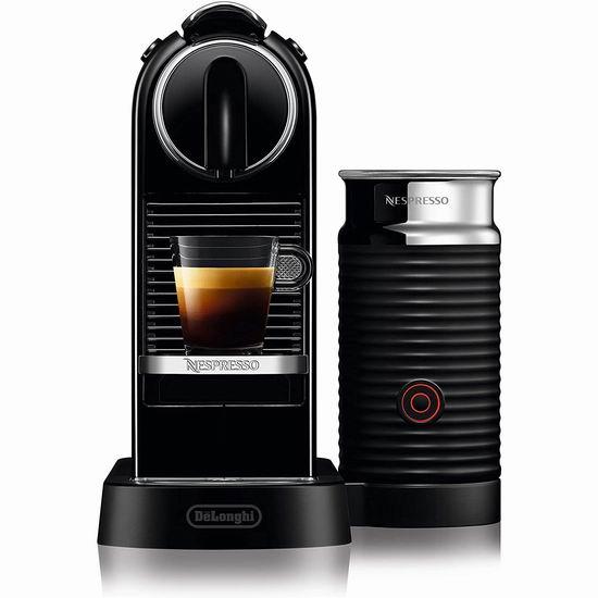 DeLonghi 德龙 Nespresso CitiZ 胶囊咖啡机+奶泡机套装6.5折 220加元包邮!